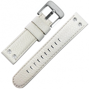 TW Steel Watch Strap White Calfskin 24mm