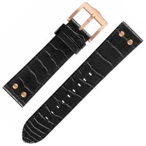 TW Steel Slim Line Watch Band TW1303, TW1308 - Black 22mm