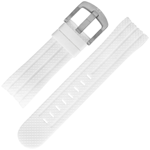 TW Steel Watch Band TW94, Sensation - White Rubber 24mm