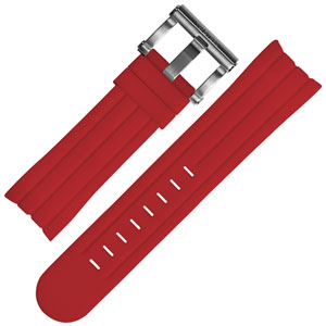 TW Steel Watch Band TW124, TW124R - Red Rubber 22mm