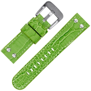 TW Steel Watch Strap Green Croco Calfskin 22mm