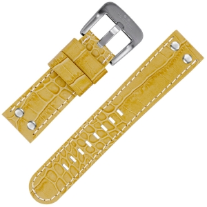 TW Steel Watch Strap Beige Croco Calfskin 22mm