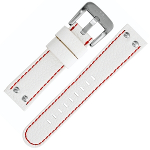 TW Steel Watch Band White with Red Stitching 22mm