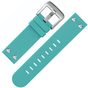 TW Steel Watch Band TW525 Turquoise Rubber 22mm