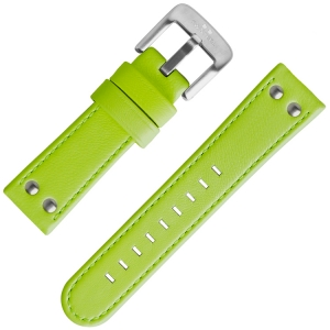 TW Steel Watch Band Fluor Green Calf Skin 24mm