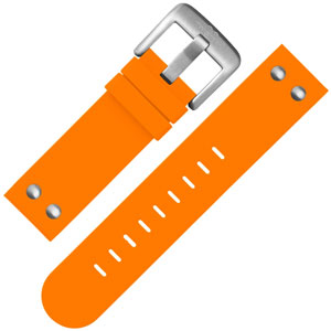 TW Steel Watch Band TW530 Orange Rubber with Studs 22mm
