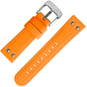 TW Steel Watch Band Fluor Orange Calf Skin 24mm
