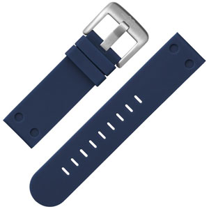 TW Steel Watch Band Dark Blue Rubber 24 mm