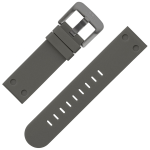 TW Steel Watch Band Rubber Gray 24 mm