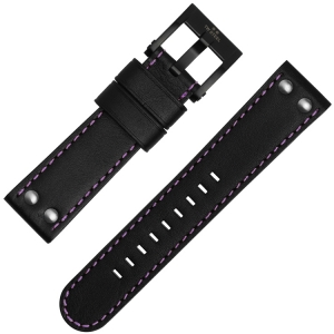 TW Steel Watch Strap TW856, TW857 and Galatasaray Black Purple 22mm