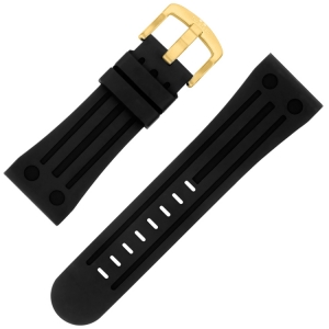 TW Steel Goliath Watch Strap TW108, TW110, TW114 - Black Rubber 30 mm