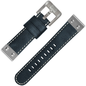 TW Steel Universal Watch Strap Blackblue Leather