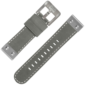 TW Steel Watch Strap Grey Suede Leather 22mm