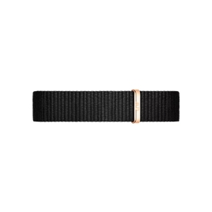 Daniel Wellington 12mm Petite Cornwall Black Nato Watch Strap Rosegold Buckle