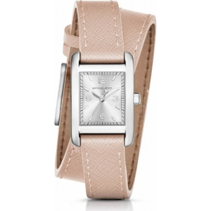 Michael Kors MK2440  Watch Strap Beige Leather