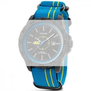 TW Steel VR11 Valentino Rossi VR|46 Watch Strap - Light Blue Nylon 20mm