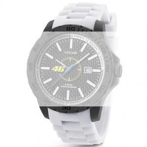 TW Steel VR4 Valentino Rossi VR|46 Watch Strap - White Rubber 22mm