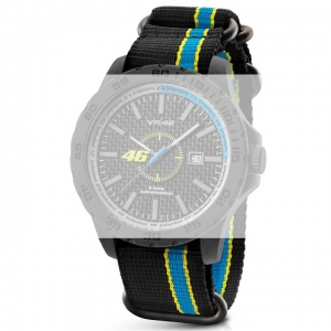 TW Steel VR9 Valentino Rossi VR|46 Watch Strap - Black Nylon 20mm