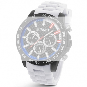 TW Steel Y116 Yamaha Factory Racing Watch Strap - White Rubber 22mm