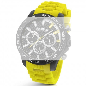 TW Steel Y120 Yamaha Factory Racing Watch Strap - Yellow Rubber 22mm