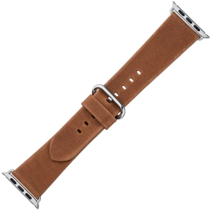 Apple Watch Strap Black Vintage Leather Cognac
