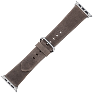 Apple Watch Strap Black Vintage Leather Taupe