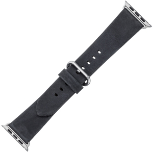 Apple Watch Strap Black Vintage Leather Black