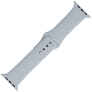 Apple Watch Strap Gray Silicone Rubber