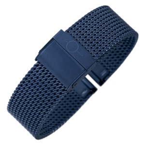 bandOh Mesh Milanaise Watch Bracelet Fine Woven Steel Blue