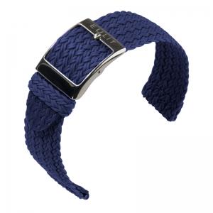 Eulit Two Piece Perlon Watch Strap Palma Pacific Navy Blue
