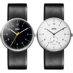 Braun Watch Strap for BN0021BKBKG and  BN0024WHBKG - Black Leather