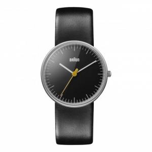 Braun Watch Strap for BN0021BKBKL - Black Leather