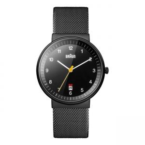 Braun Watch Strap BN0032BKBKMHG Mesh Milanese Black