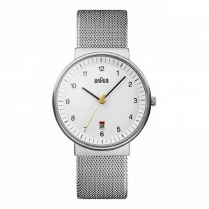 Braun BN0032WHSLMHG Watch Strap Silver Mesh (Milanese)