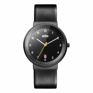 Braun BN0032BKBKG Watch Strap Black Leather