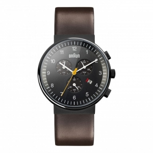 Braun BN0035BKBRG Watch Strap Brown Leather