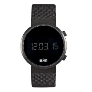 Braun BN0036BKBKMHG Watch Strap Black Mesh (Milanese)