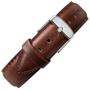 Daniel Wellington 18mm Classic Bristol Dark Brown Leather Watch Strap Stainless Steel Buckle