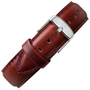 Daniel Wellington 20mm Classic Bristol Dark Brown Leather Watch Strap Steel Buckle