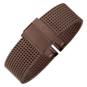 bandOh Mesh Milanaise Watch Bracelet Fine Woven Steel Brown