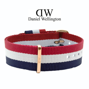 Daniel Wellington 20mm Classic Cambridge NATO Watch Strap Rosegold Buckle