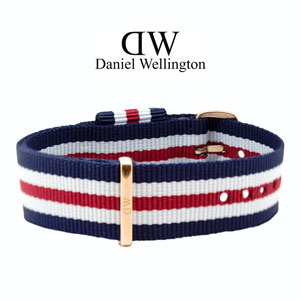 Daniel Wellington 18mm Classic Canterbury NATO Watch Strap Rosegold Buckle