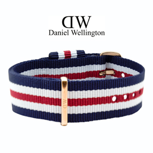 Daniel Wellington 20mm Classic Canterbury NATO Watch Strap Rosegold Buckle
