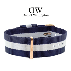 Daniel Wellington 20mm Classic Glasgow NATO Watch Strap Rosegold Buckle