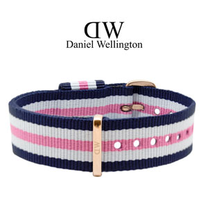 Daniel Wellington 18mm Classic Southampton NATO Watch Strap Rosegold Buckle