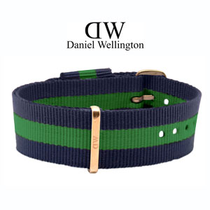 Daniel Wellington 20mm Classic Warwick NATO Watch Strap Rosegold Buckle