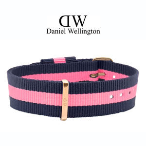 Daniel Wellington 17mm Classy Winchester NATO Watch Strap Rosegold Buckle