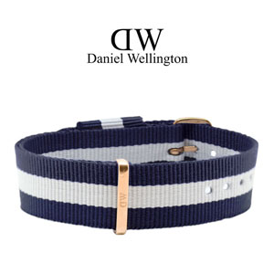 Daniel Wellington 18mm Classic Glasgow NATO Watch Strap Rosegold Buckle