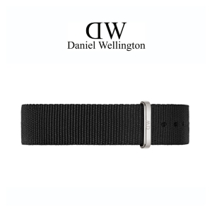 Daniel Wellington 14mm Petite Cornwall Black Nato Watch Strap Stainless Steel Buckle