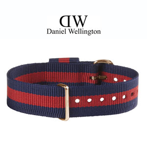 Daniel Wellington 18mm Classic Oxford NATO Watch Strap Rosegold Buckle